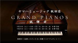 グランドピアノ試弾会開催とポイントカード導入のご案内