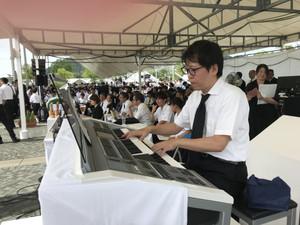 長崎平和祈念式典エレクトーン演奏